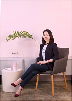 Park hopes to change biased perceptions on sex and women withher company.<br>Photo provided by SAIB & Co.