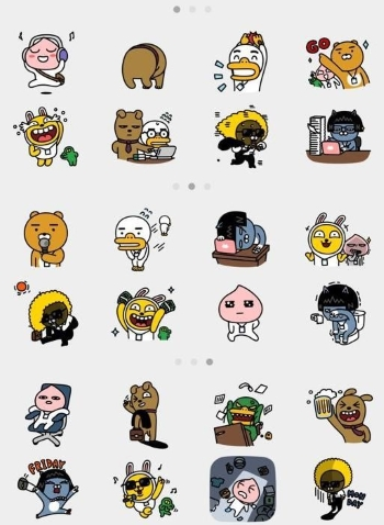 Two billion Kakaotalk emojis are sent per month. Photo provided by Kakao Corp