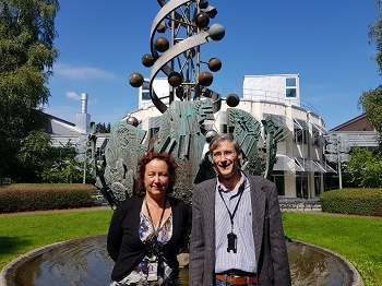 Margareta Krabbe (left) and fellow professor from Uppsala University. Photo by Ewha Voice.