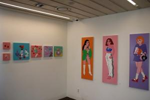 Art Space displays paintings of artist Pureum for Silent Auction.