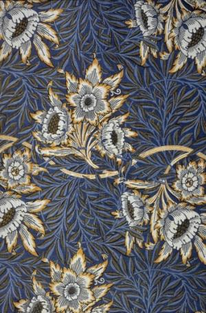 Caption: Tulip and Willow printed linen designed by William Morris. Photo provided by Planet Art CD of royalty-free PD images William Morris: Selected Works.