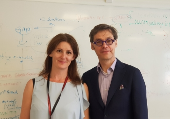 Lina Sors Emilsson from Uppsala University and Mark Govers from Maastricht University. Photo by Ewha Voice