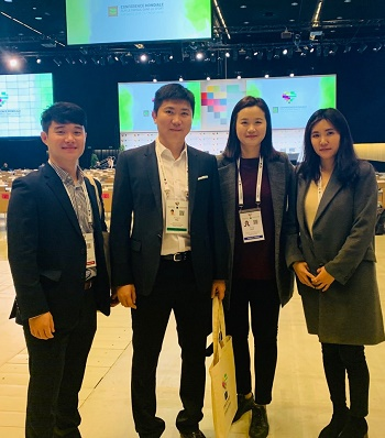 Park Joo-hee, Korea's first international DCO, participated in the 2019 WADA Conference i.Photo provided by Park Joo-hee.